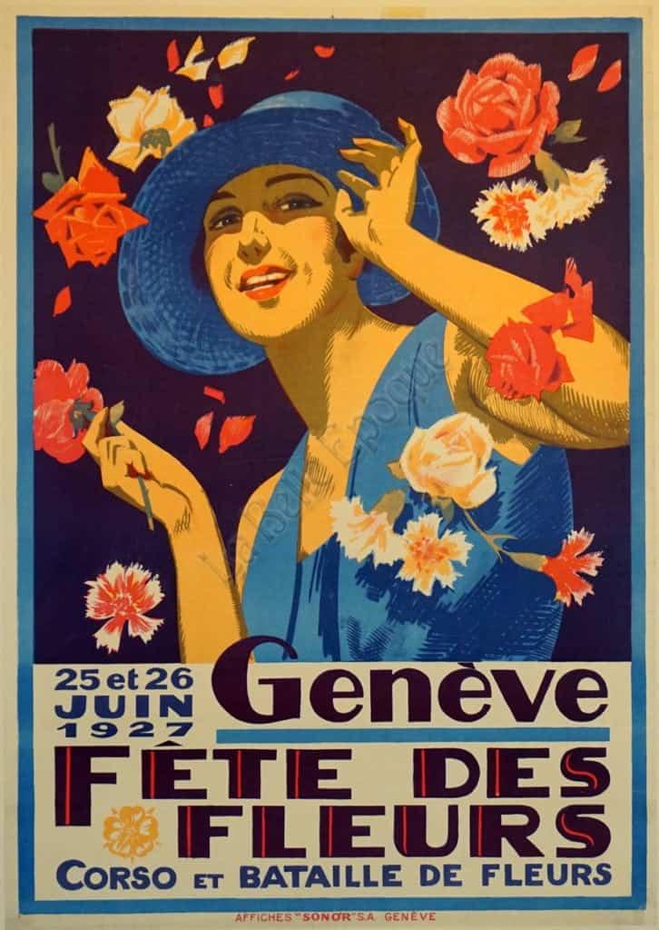 Geneve Fete Des Fleurs Vintage Posters