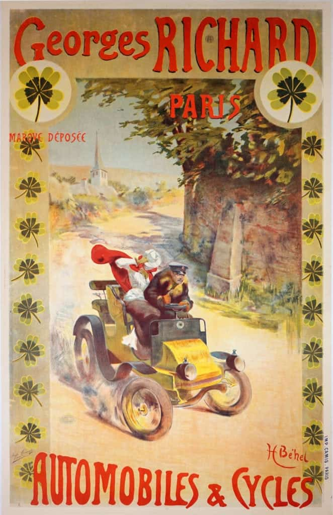 Georges Richard Paris Automobiles & Cycles Vintage Posters