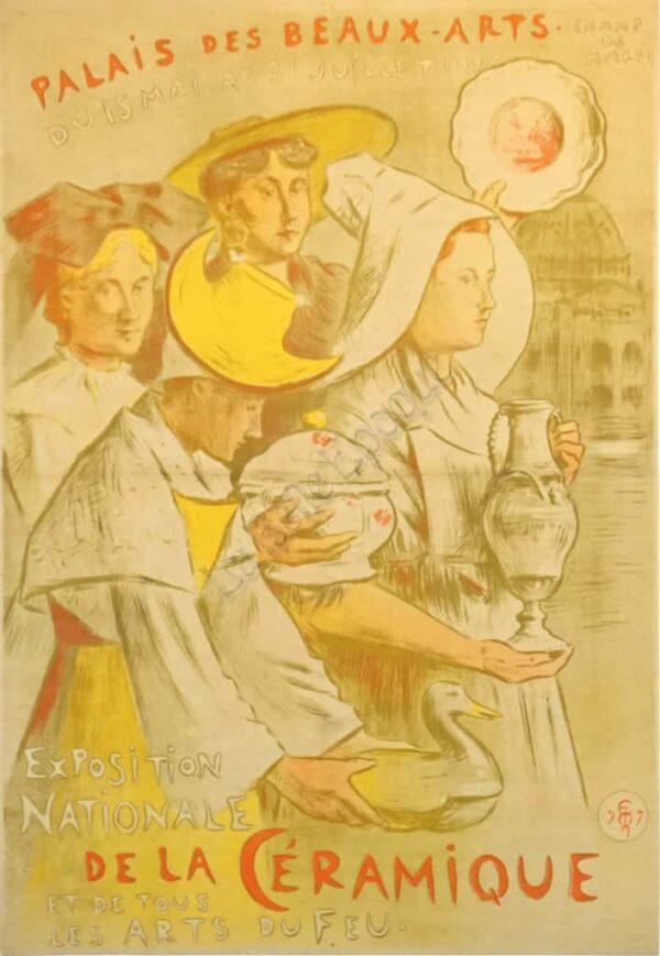 Palais Des Beaux-Arts Ceramique Vintage Posters
