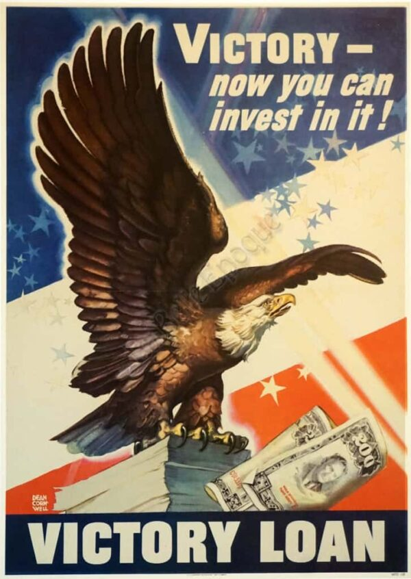Victory now you can invest in it Vintage Posters