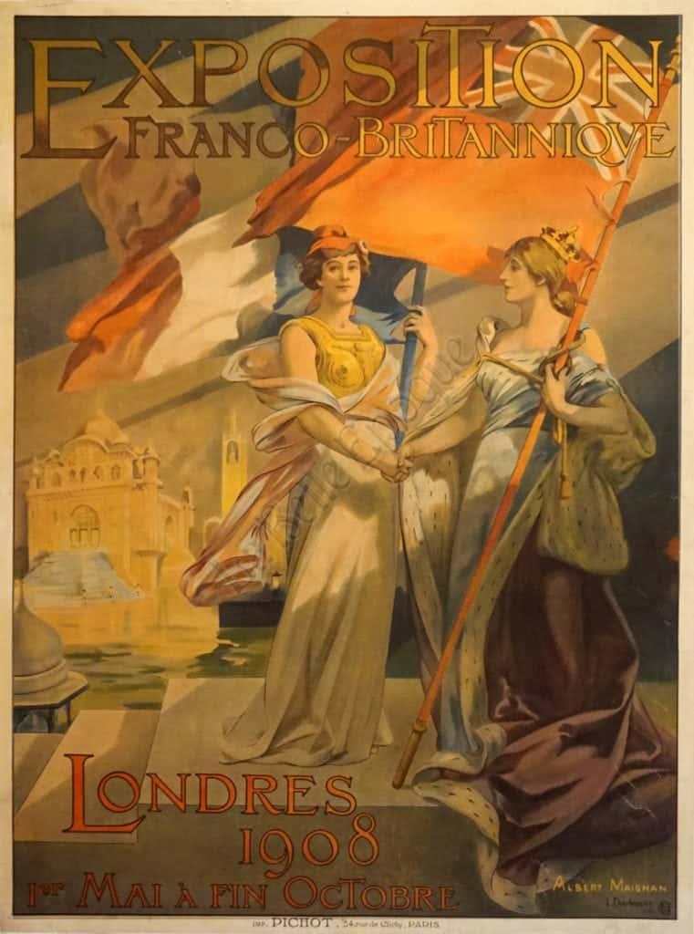 Exposition Franco-Britanniqve Vintage Posters
