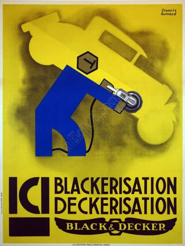 ICI Blackerisation Deckerisation Black & Decker Vintage Posters