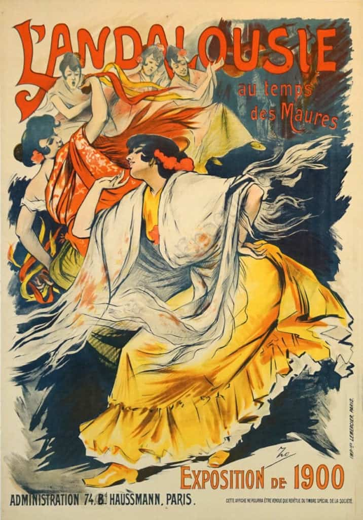 French Art Nouveau Exhibition Poster L