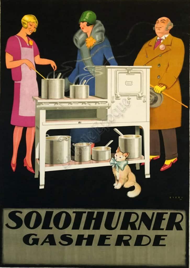 Solothurner Gasherde Vintage Posters