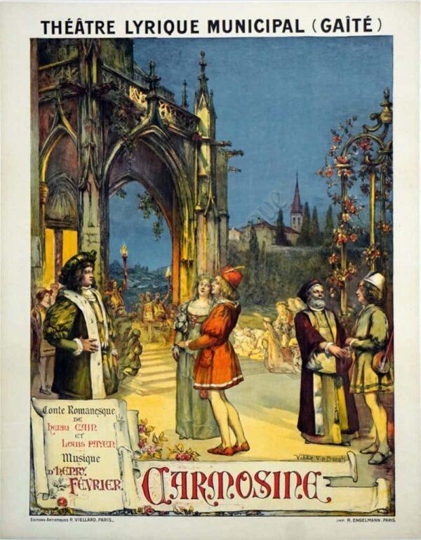 Theatre Lyrique Municipal Gaite Vintage Posters