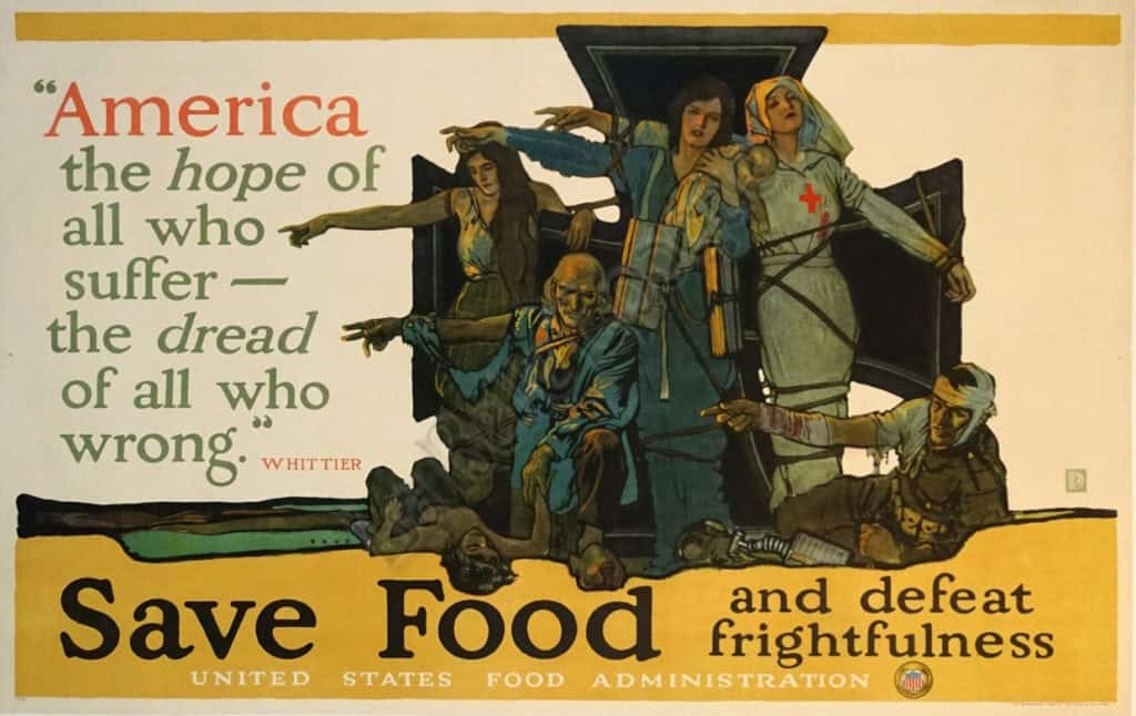 Save Food and defeat frightfulness Vintage Posters