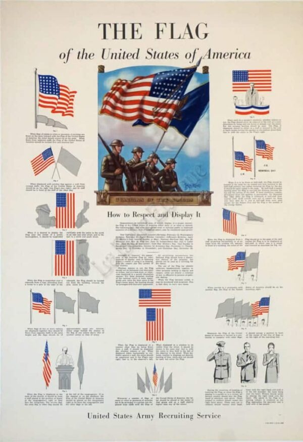 The Flag of the united states of America Vintage Posters