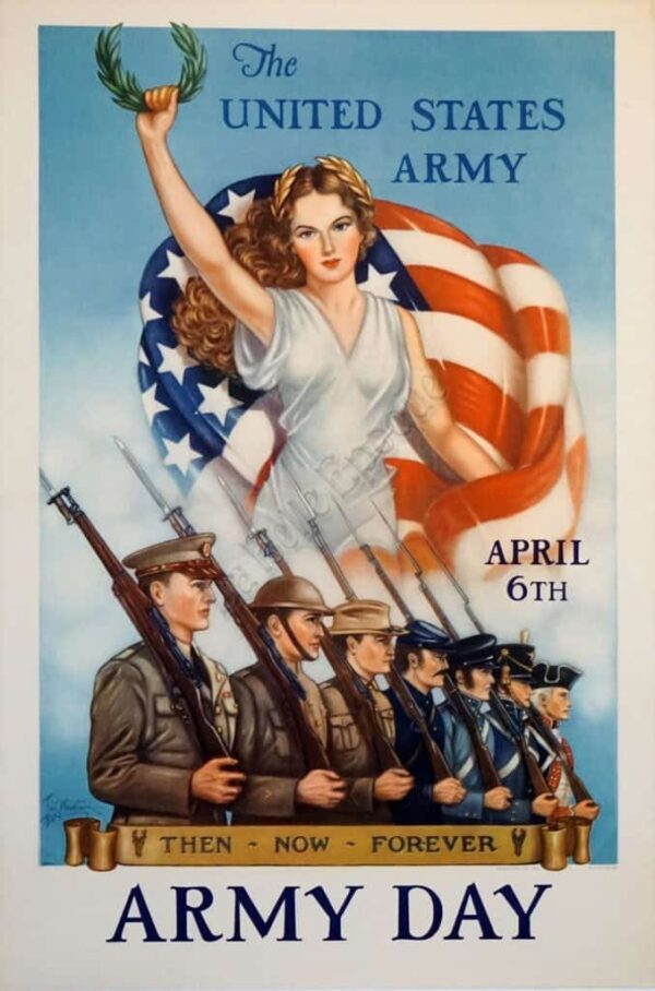 United States Army day Vintage Posters