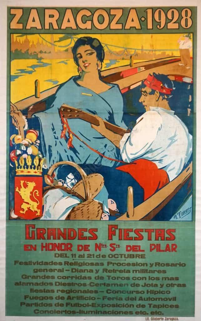 Zaragoza 1928 Vintage Posters