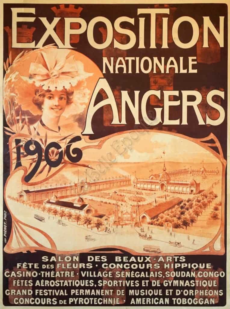 Exposition Nationale Angers Vintage Posters