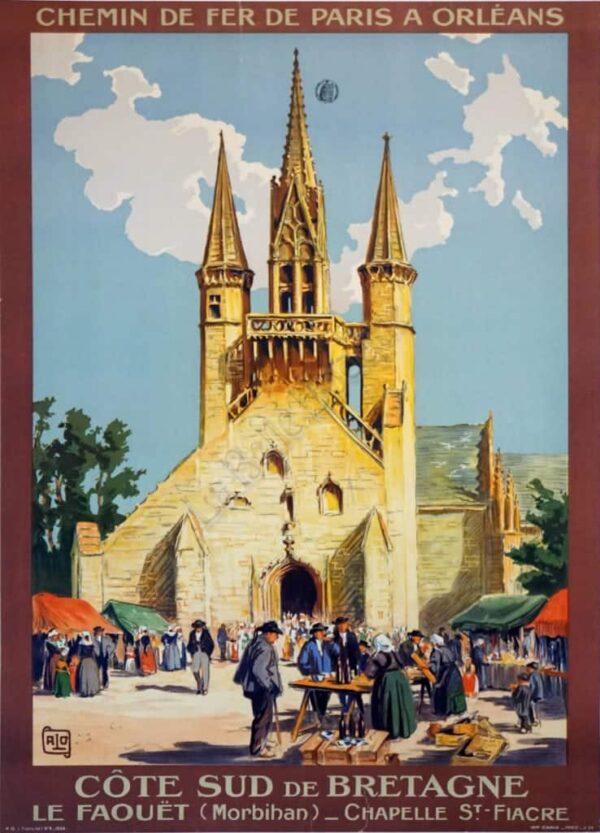 Chemin de fer Paris a Orleans Vintage Posters