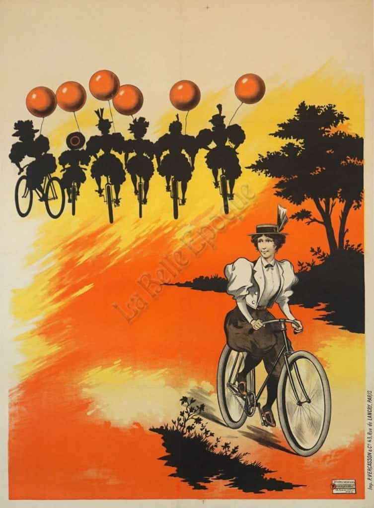Balloon Bicycle Vintage Posters