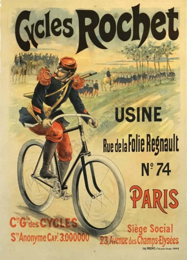 Cycles Rochet Vintage Poster