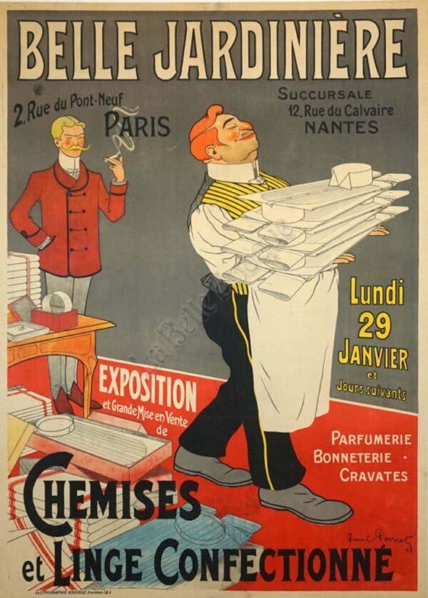 Belle Jardiniere Chemises Vintage Posters