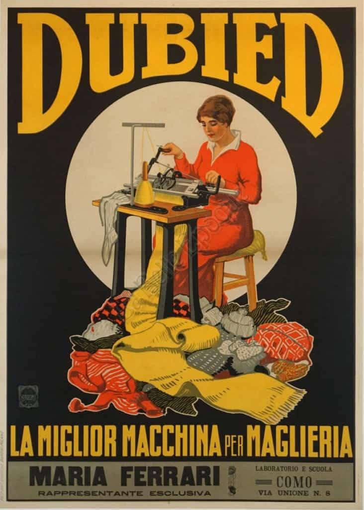 Dubied La Miglior Macchina Per Maglieria Vintage Posters