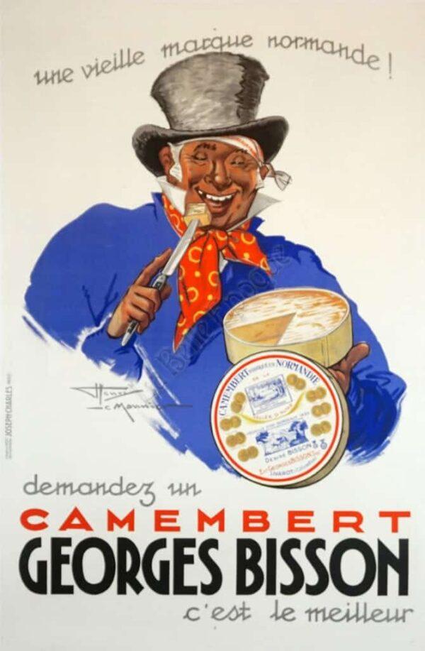 Camembert Georges Bisson Vintage Posters