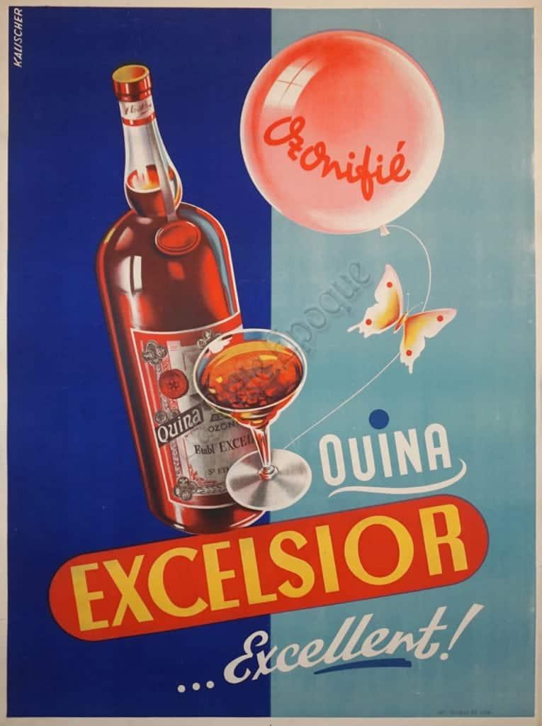 Quina Excelsior ...excellent Vintage Posters