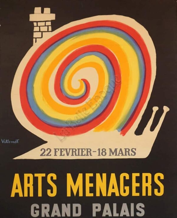 Arts Menagers Grand Palais Vintage Posters