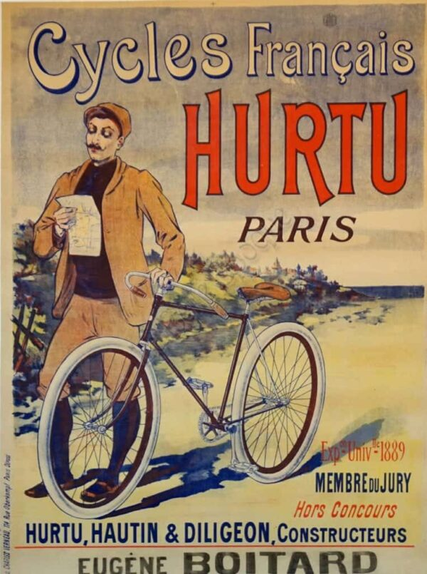 Cycles Francais Hurtu Paris Vintage Posters
