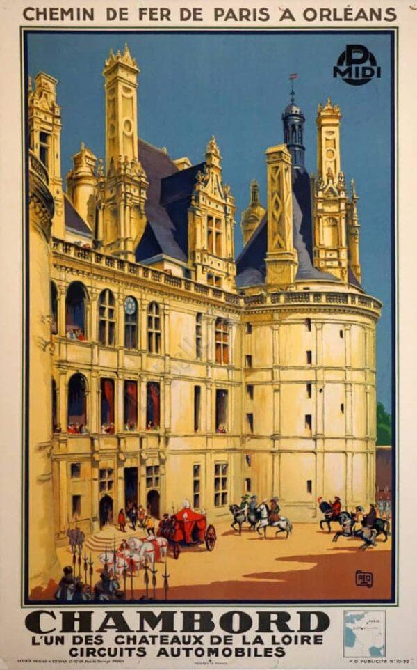 Chemin De Fer De Paris Chambord Vintage Posters