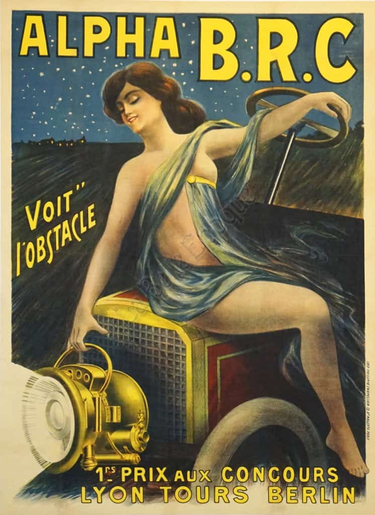 Alpha B.R.C. Voit l'Obstac Vintage Posters