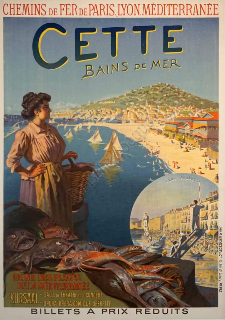 Cette Bains de Mer Vintage Posters