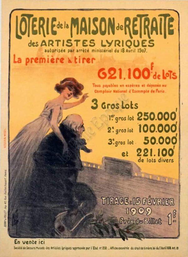 Loterie de la Maison de Retraite Vintage Posters