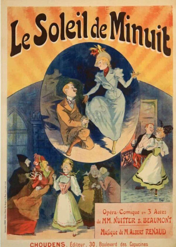 Le Soleil de Minuit Vintage Poster