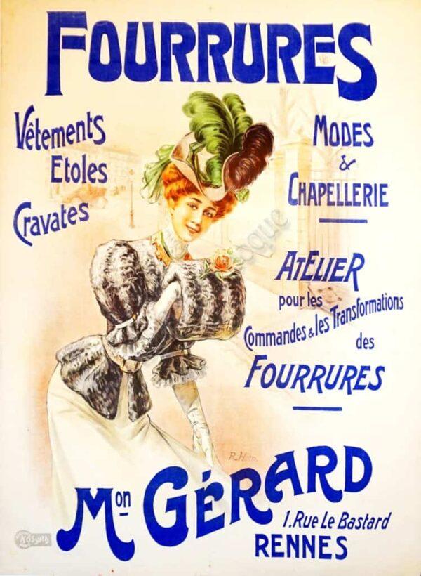 Fourrures Vintage Posters