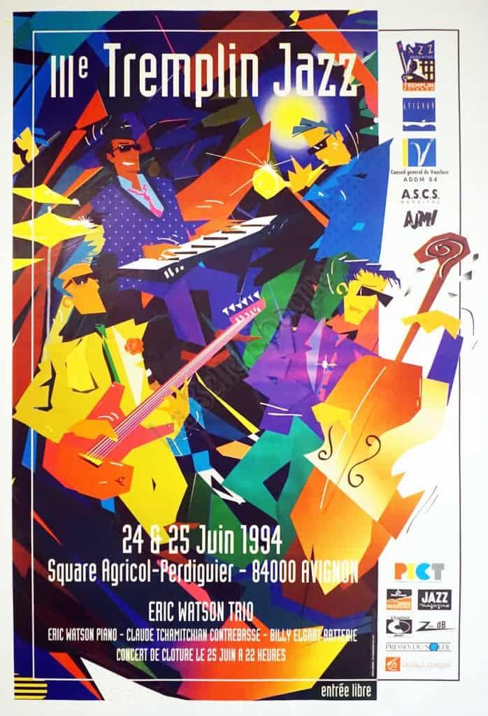 Tremplin Jazz Vintage Posters