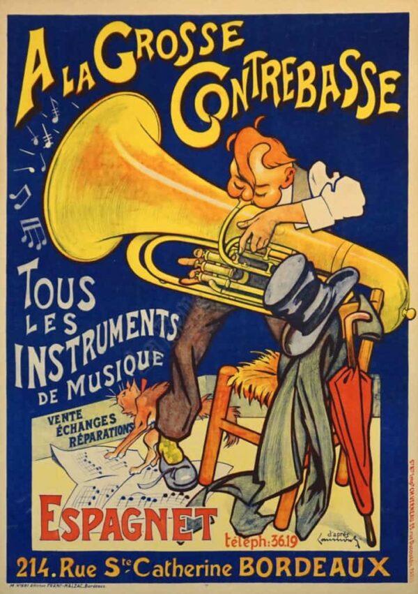 A La Grosse Contrebasse Vintage Posters