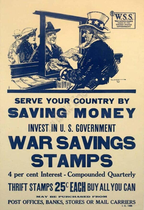 Serve Your Country By Saving Money Vintage Posters