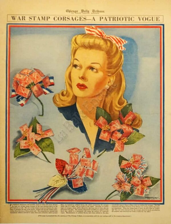 War Stamp Corsages Vintage Posters