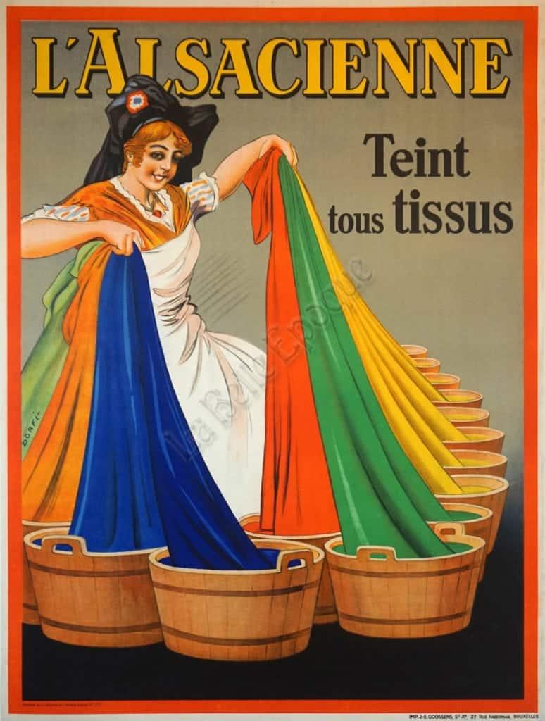 L'Alsacienne Teint tous Tissus Vintage Posters