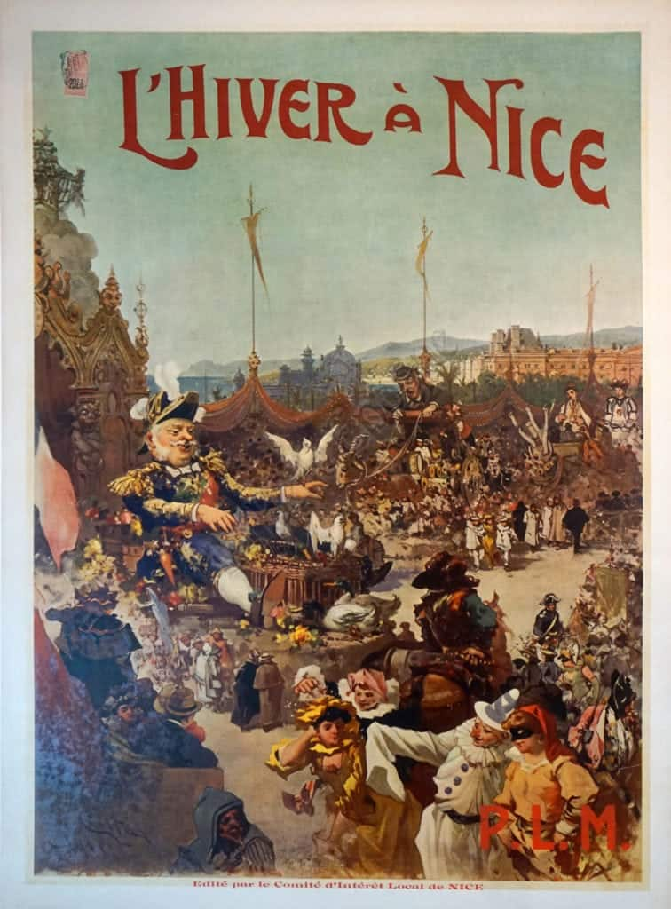 L' Hiver A Nice Vintage Posters