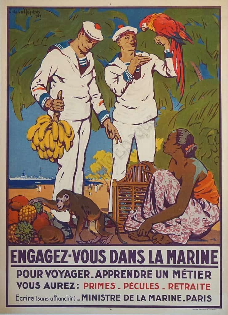 Engagez Vous Dans La Marine Vintage Posters