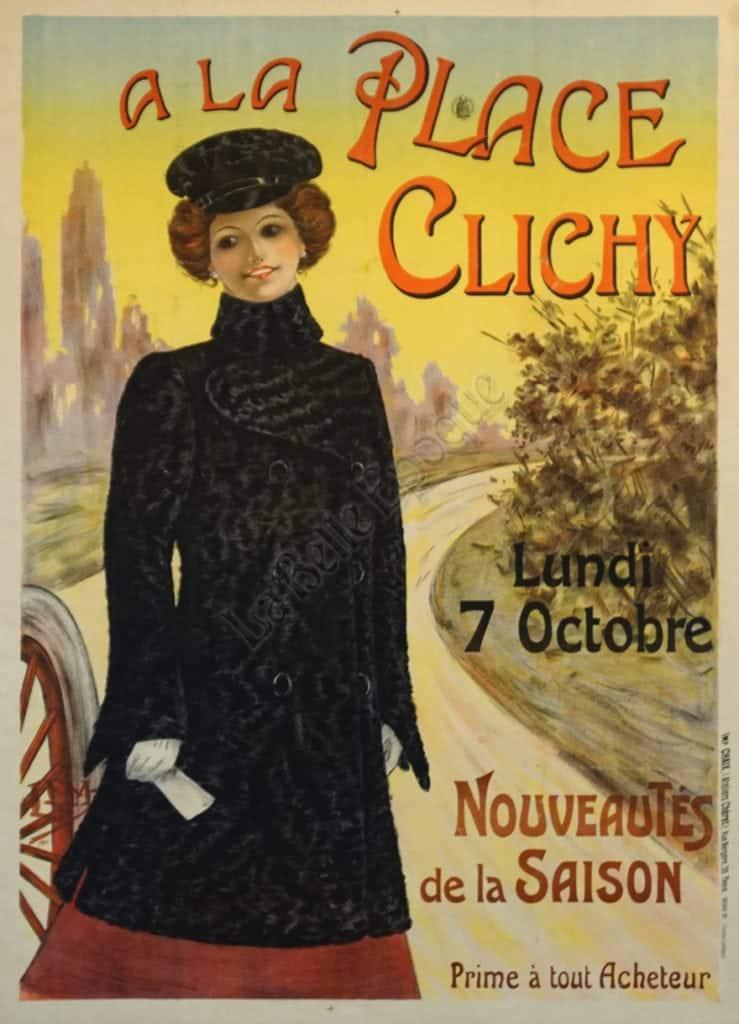 A La Place Clichy Vintage Posters
