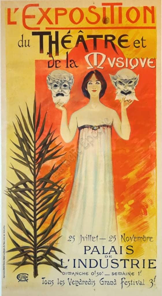 L' Exposition du Theatre Vintage Posters