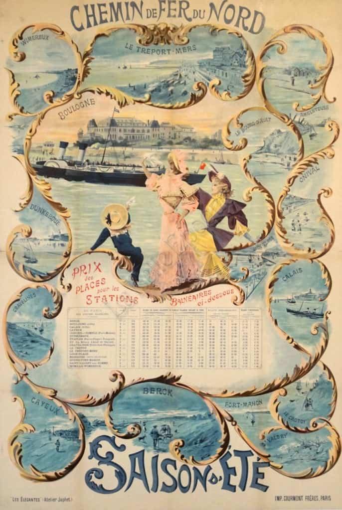 Saison D'Ete Japhet Vintage Poster
