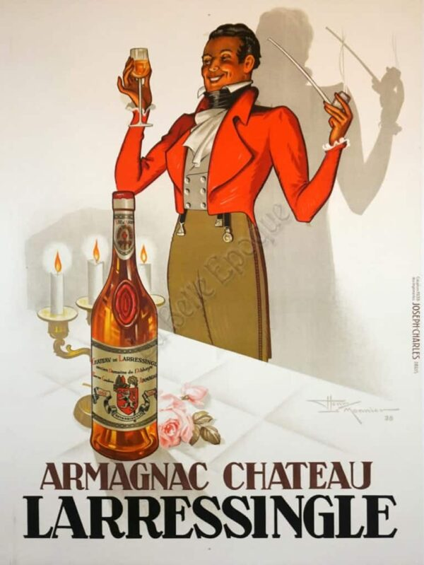 Armagnac Chateau Larressingle Vintage Posters