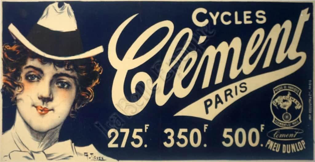 Cycles Clement Paris Vintage Posters