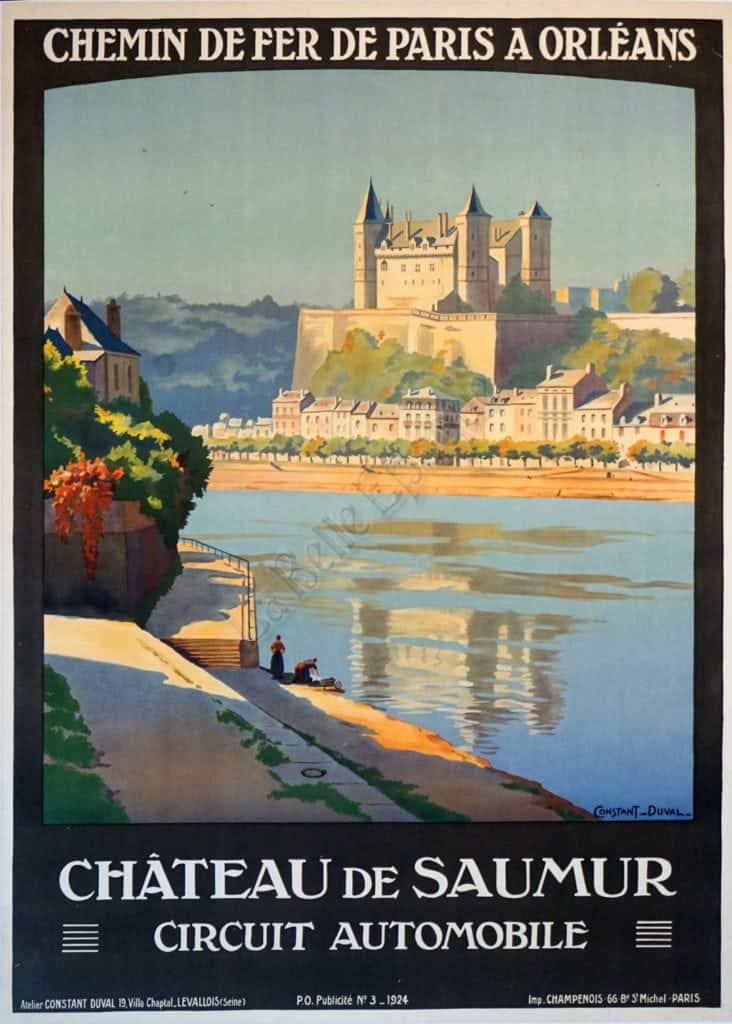 Chateau De Saumur Vintage Posters