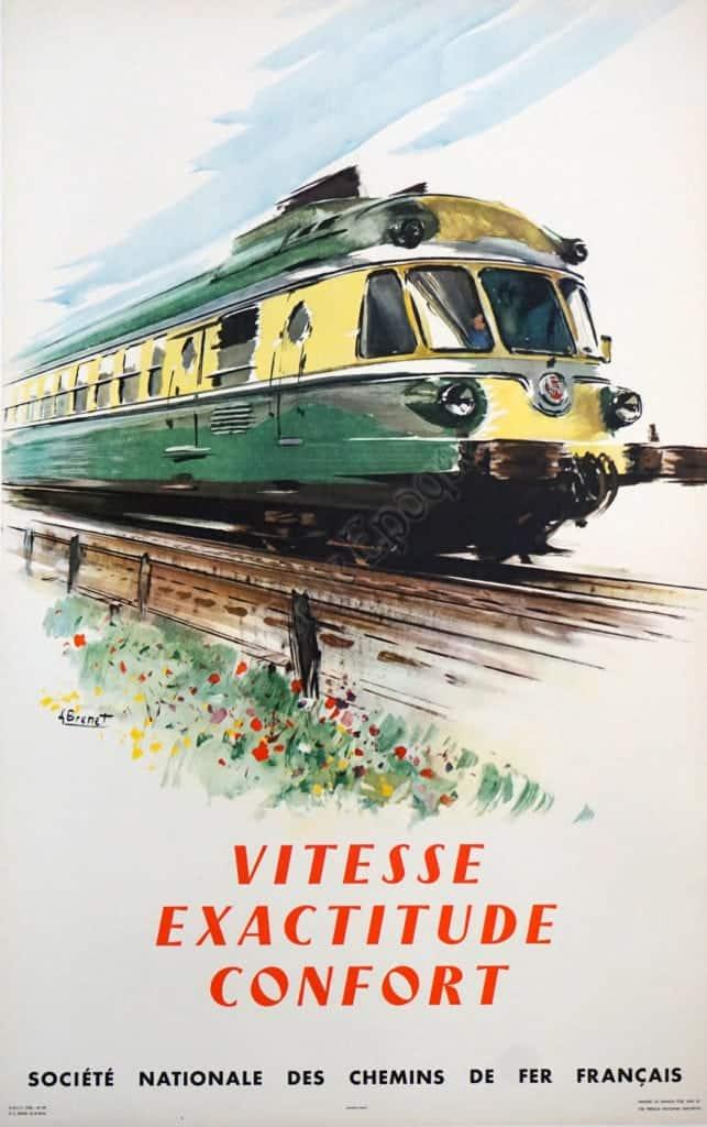 Vitesse Exactitude Confort Vintage Posters