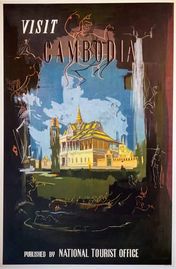 Visit Cambodia Vintage Poster