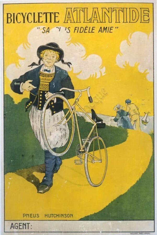 Bicyclette Atlantide Vintage Posters