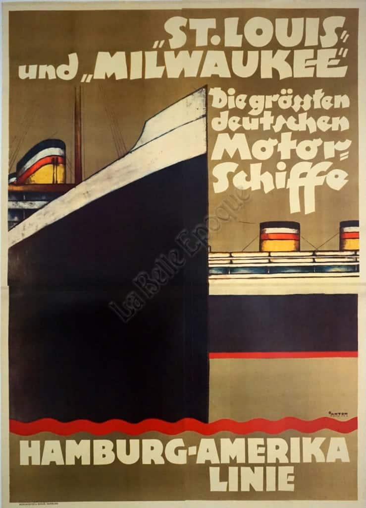 Hamburg-Amerike Linie Vintage Posters