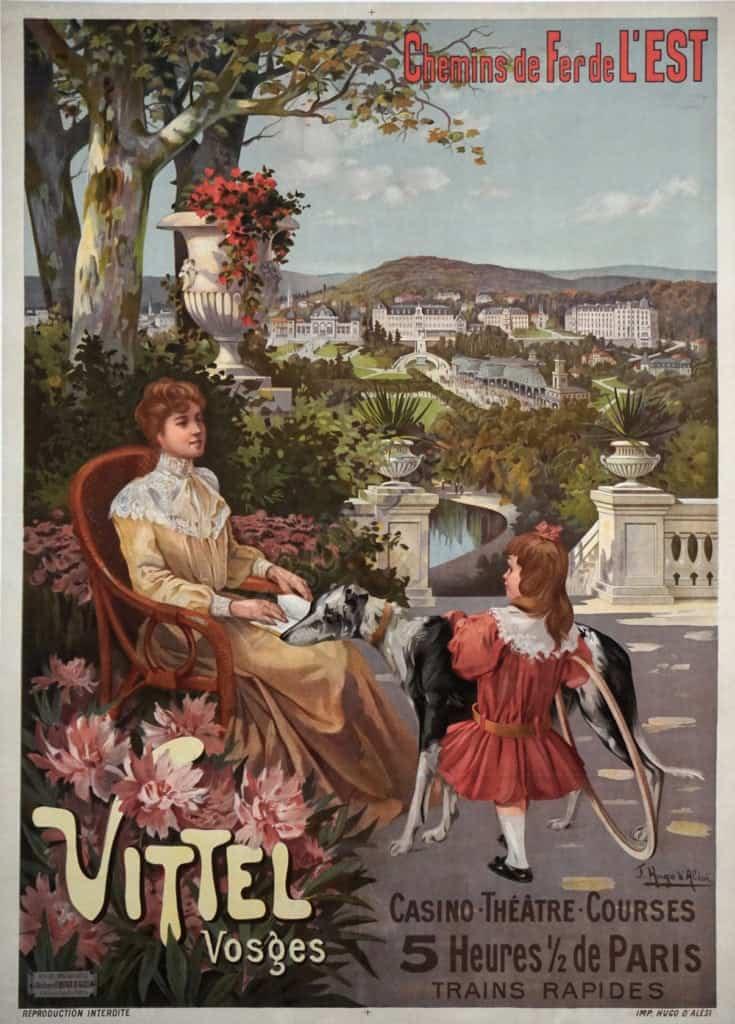 Chemins de Fer de L'est Vittel Vintage Posters