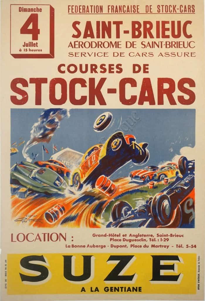 Saint-Brieuc Courses De Stock-Cars Suze Vintage Posters