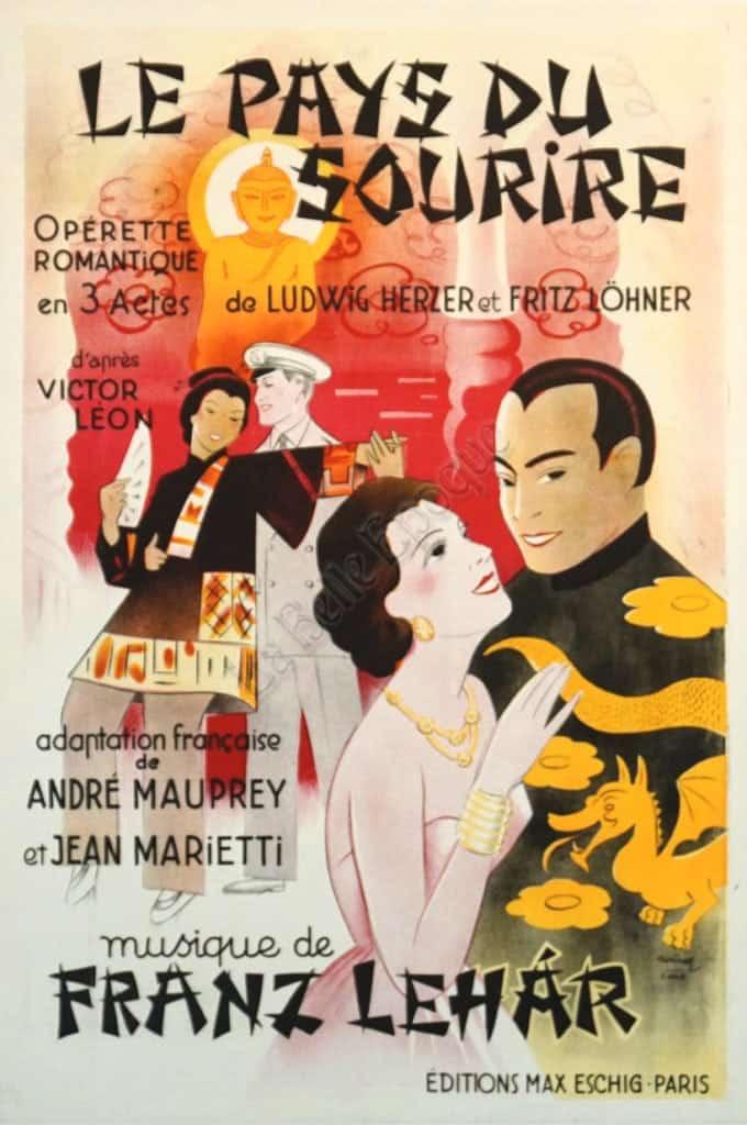 Le Pays Du Sourire Vintage Posters