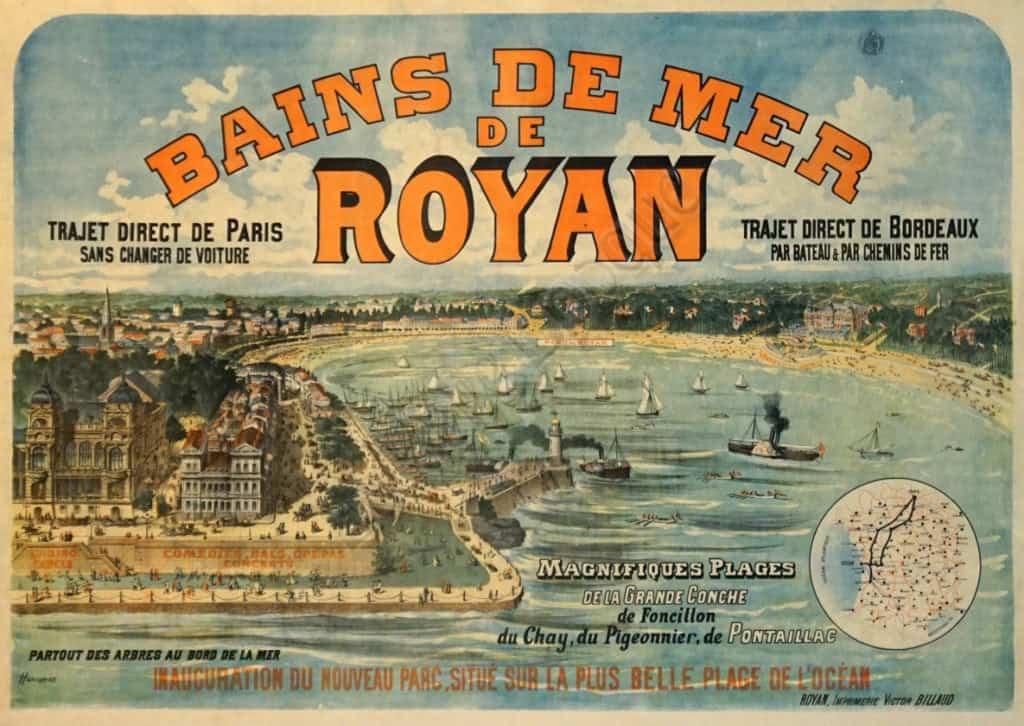 Bains De Mer De Royan Vintage Posters